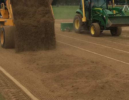 Renovating a pitch